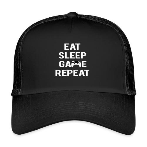 Eat, sleep, game, REPEAT - Trucker Cap