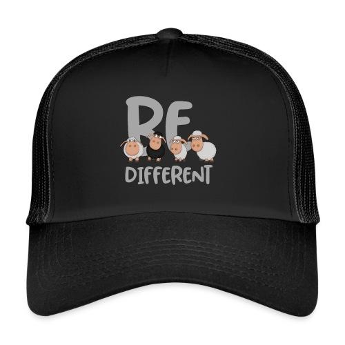 Be different Schafe: Einzigartiges schwarzes Schaf - Trucker Cap