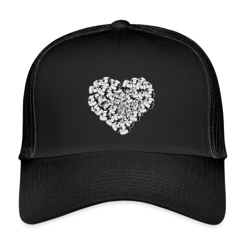 heart for art street love - Trucker Cap