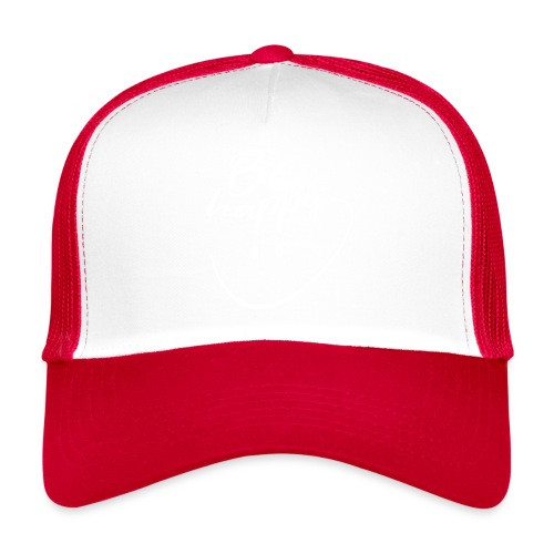 Be Happy With Hand Drawn Smile - Trucker Cap