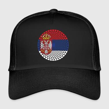 Serbia Serbia Србија Srbija Love Heart Mandala - Trucker Cap