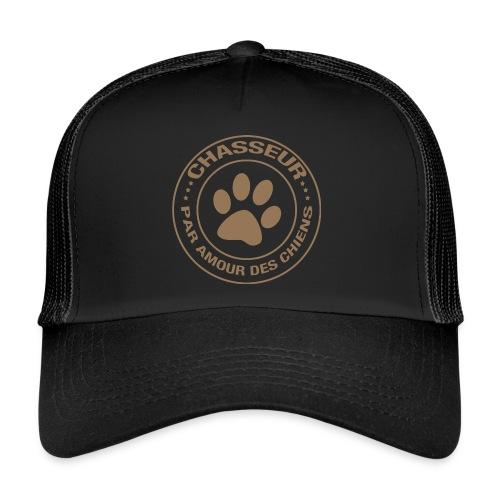 Chasseur par amour des chiens - Trucker Cap