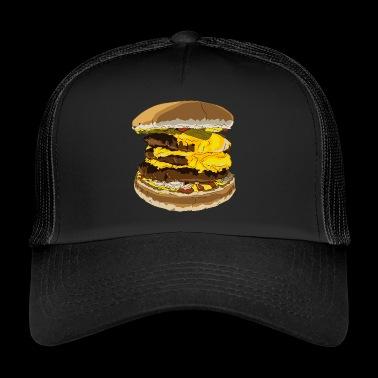 Una sabrosa hamburguesa - Gorra de camionero