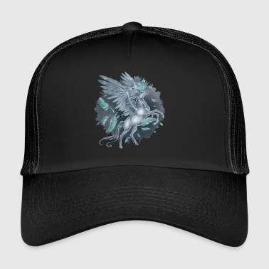 Pegasus with Stain background - Trucker Cap