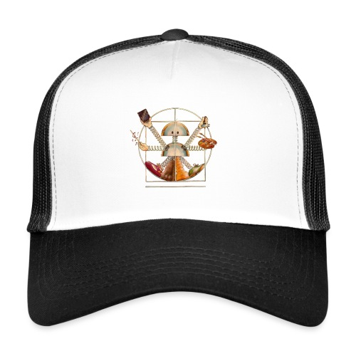 Sam_the_Robot – Vitruvian Design - Trucker Cap