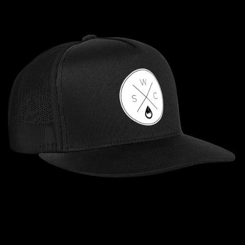 WSC Hipster-Logo rund weiß - Trucker Cap