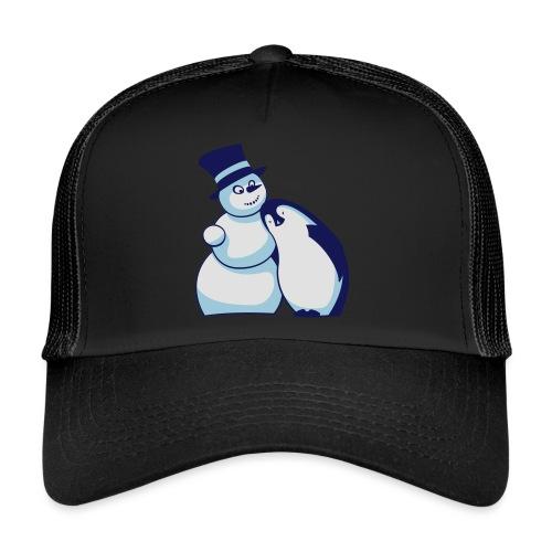 Schneemann und Pinguin - Trucker Cap
