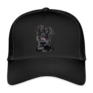 flatcoated retriever p - Trucker Cap