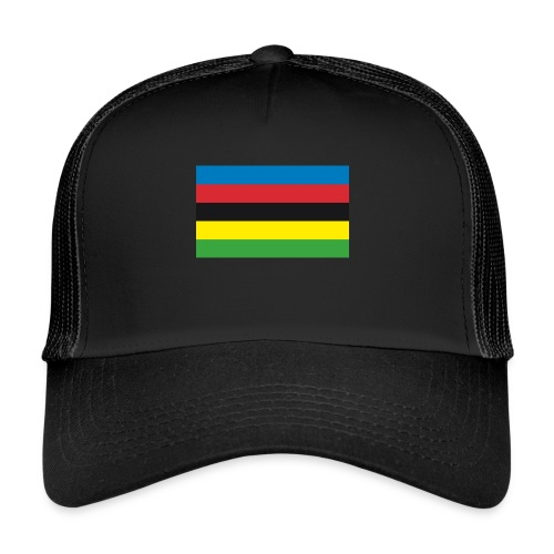 Cycling_World_Champion_Rainbow_Stripes-png - Trucker Cap