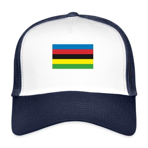 Cycling_World_Champion_Rainbow_Stripes-png - Trucker Cap