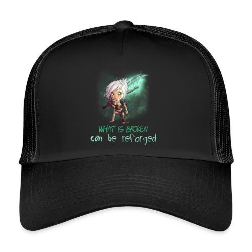 Chibi Riven con scritta - Trucker Cap