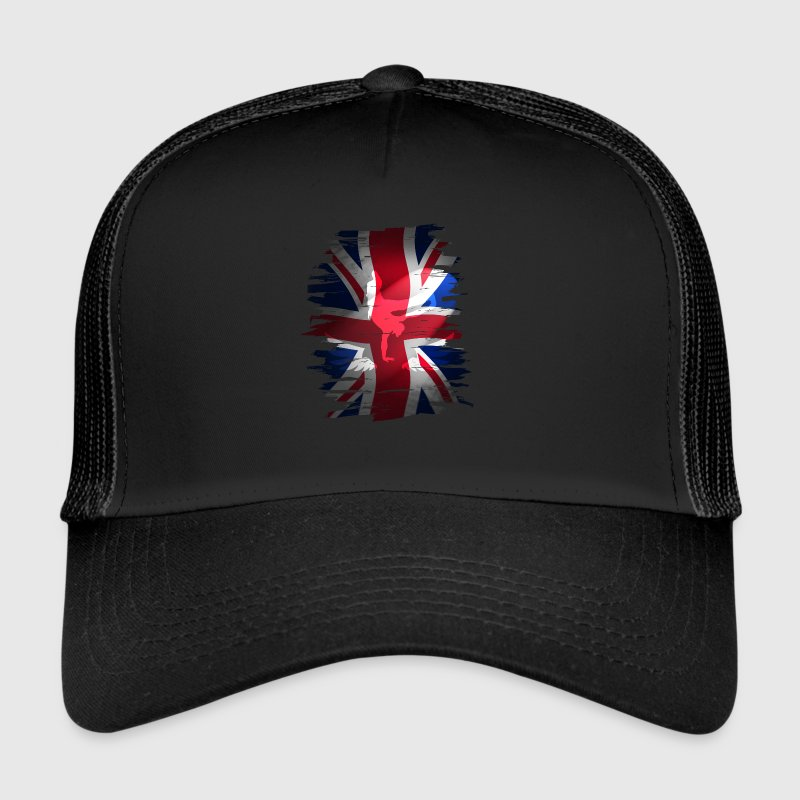 Union Jack British Flag England skater grunch street - Trucker Cap