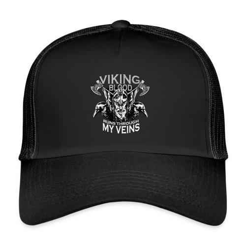 Vikinger Vikings Blut Rabe Krähe Axt - Trucker Cap