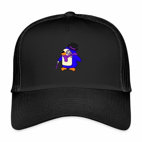 Cute Posh Purple Violet Penguin - Trucker Cap