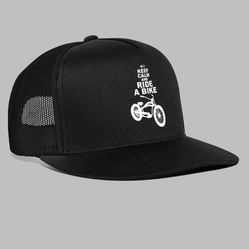 keep Calm and Ride a Bike Geschenkidee - Trucker Cap