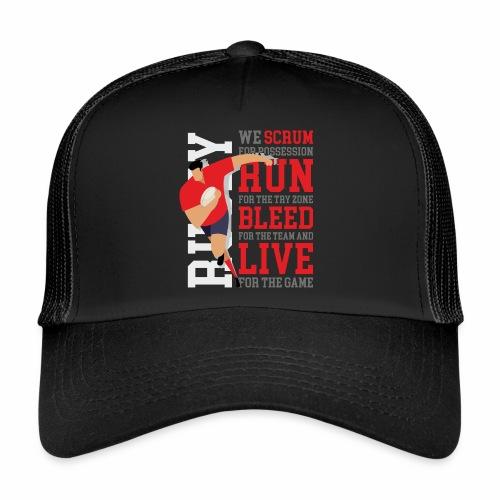 MarPlo Scrum Run Live Red - Trucker Cap