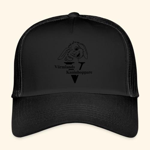 Svart tryck - Trucker Cap