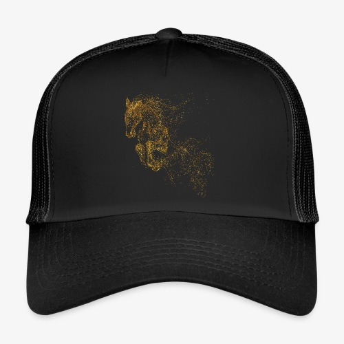 Vorschau: jumping horse gold - Trucker Cap