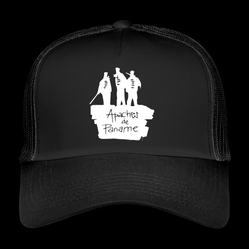 logo apache blanc - Trucker Cap