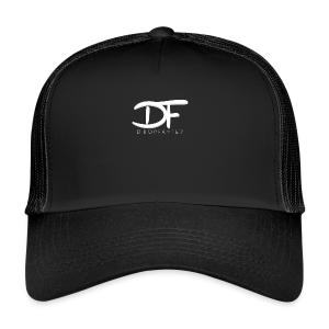 Dropfayter logo in WIT - Trucker Cap