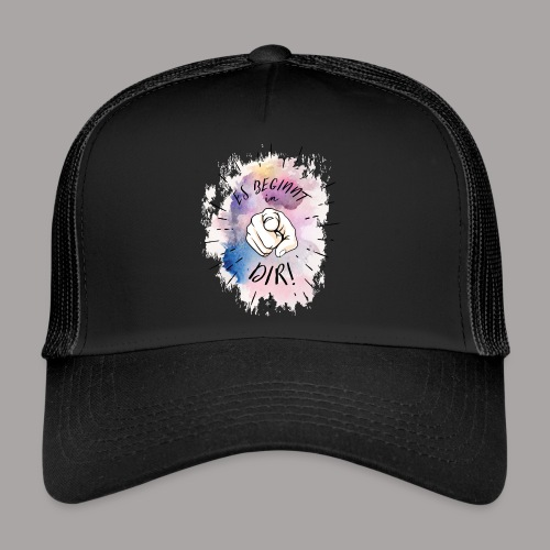 shirt bunt tshirt druck - Trucker Cap