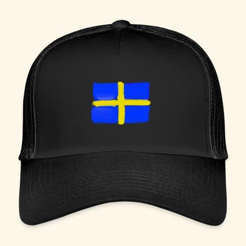 Swedish flag in Watercolours - Trucker Cap