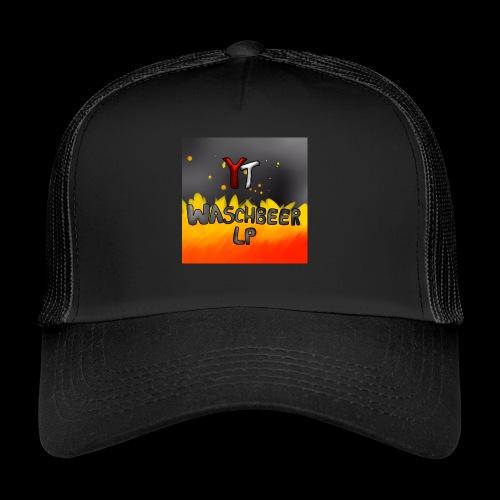 Waschbeer Design 2# Mit Flammen - Trucker Cap