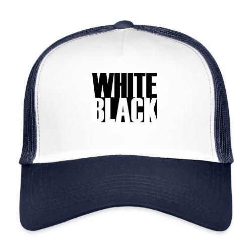 White, Black T-shirt - Trucker Cap