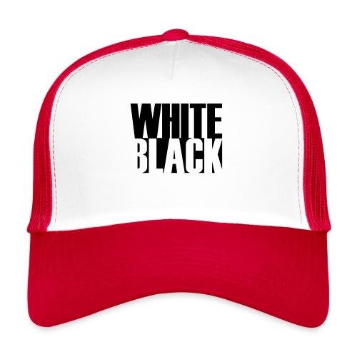 White, Black T-shirt - Trucker Cap