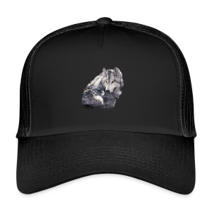 wolf and forest - Gorra de camionero