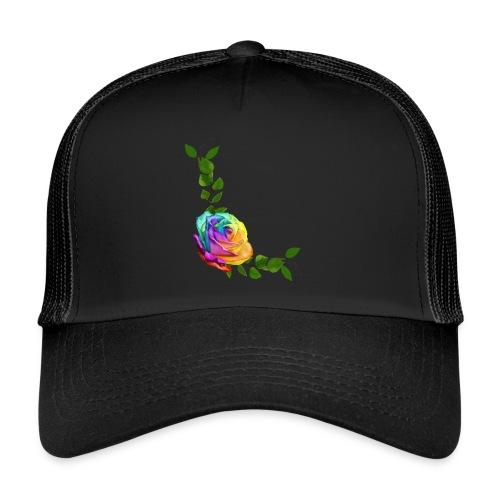 Rose arc-en-ciel par A.E Ferrets - Trucker Cap