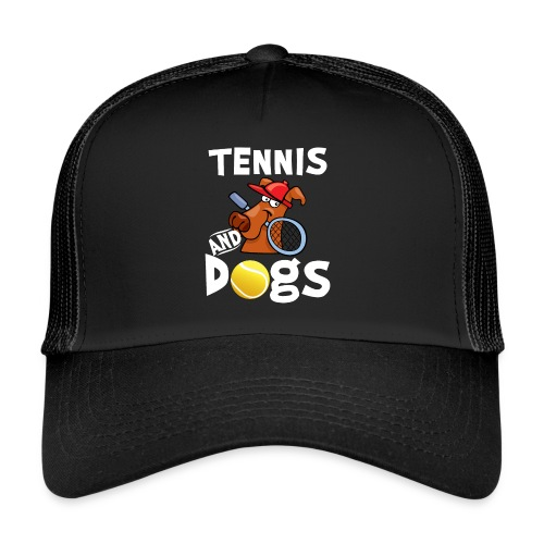 Tennis And Dogs Funny Sports Pets Animals Love - Trucker Cap
