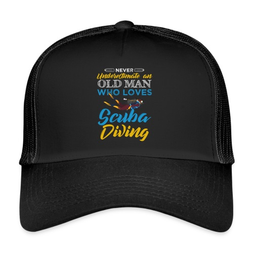 Old Man Who Loves Scuba Diving - Trucker Cap