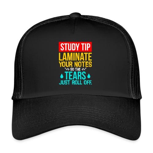 Fun Student Gift Study Tip Laminate Notes so - Trucker Cap