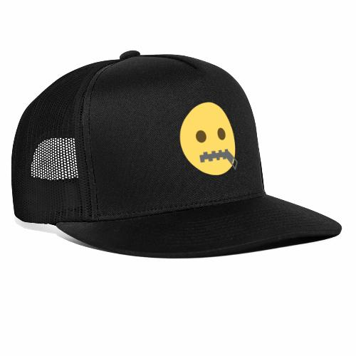 emoji bocca chiusa - Trucker Cap