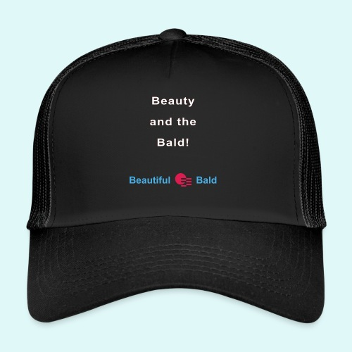 Beauty and the bald-w - Trucker Cap