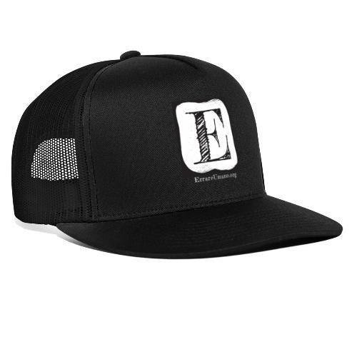 Logo ErrareUmano con scritta bianca - Trucker Cap