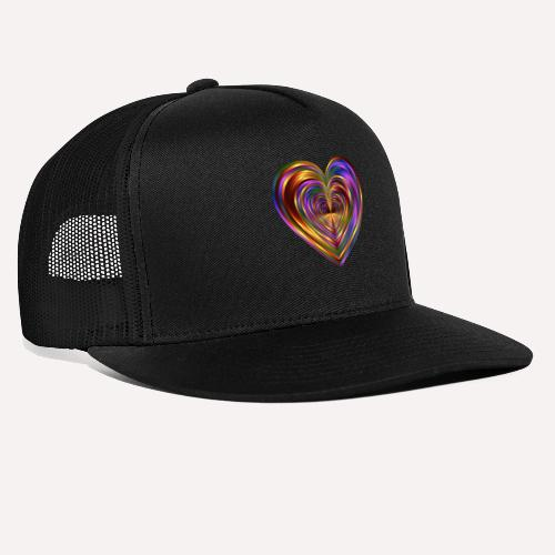 Colorful Love Heart Print T-shirts And Apparel - Trucker Cap