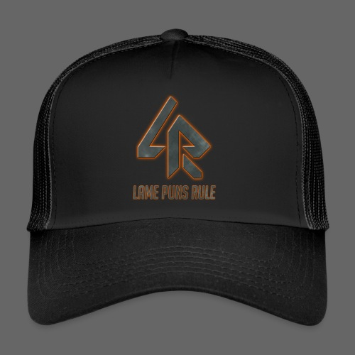 Lame Puns Rule: Logo - Trucker Cap