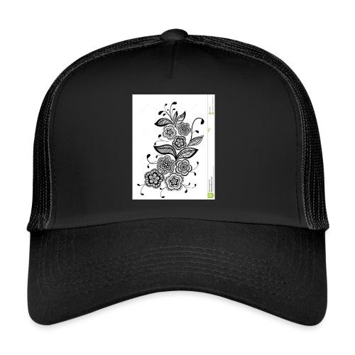 diseño de flores - Gorra de camionero