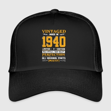 Vintaged Made In 1940 Limited Edytor - Trucker Cap