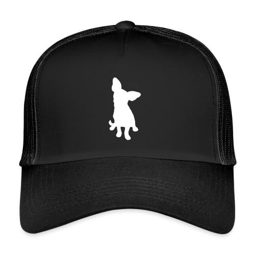 Chihuahua istuva valkoinen - Trucker Cap