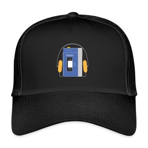 Stereo walkman in blue - Trucker Cap