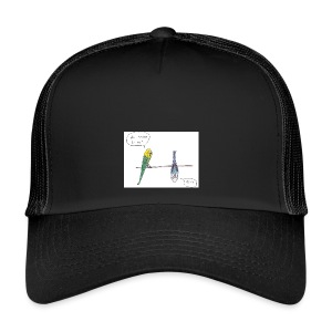 Wellensittich der Yoga macht - Trucker Cap