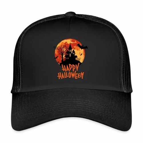 Bloodmoon Haunted House Halloween Design - Trucker Cap