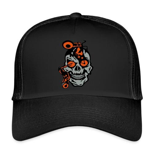 tete mort moto motrocycle oeil skull - Trucker Cap