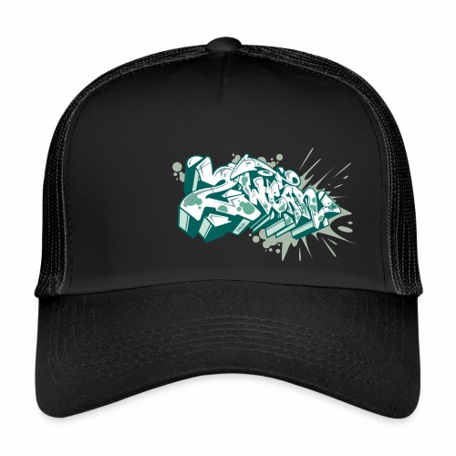 √ Dae 2Wear graffiti style ver2 Green edt - Trucker Cap