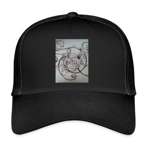 Tattoo Rose - Trucker Cap