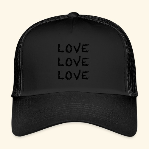 LOVE Black 001 - Trucker Cap