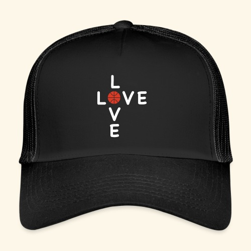 LOVE Cross basketball red 001 - Trucker Cap